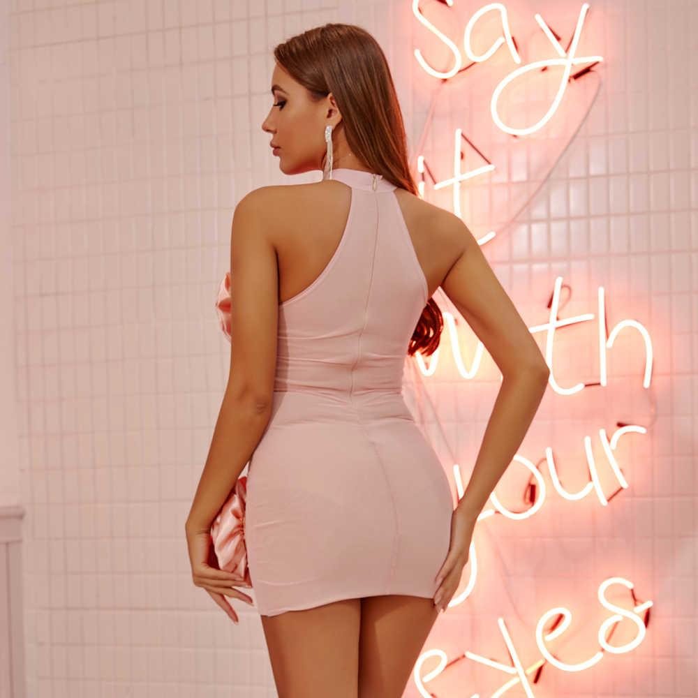JillPeri Frauen Strukturierte Rote Rose Sexy Party Kleid Hohe Stretch Mantel Ärmellose Ultra Short Club Wear Outfit Mini Kleider