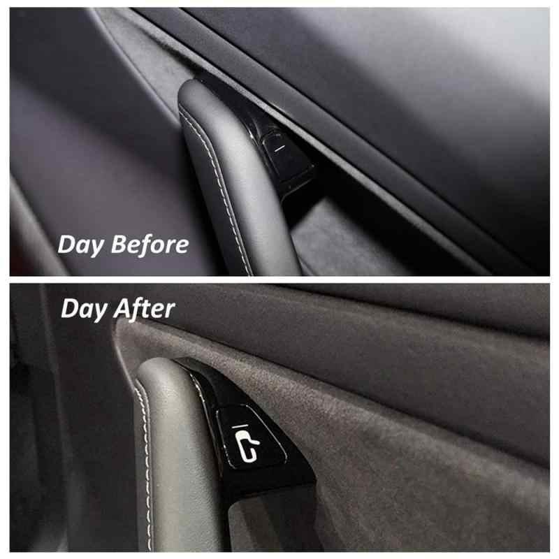 2020 חדש רכב דלת פתוח יציאה זוהר מדבקת מדבקות פתוח כפתור תזכורת Fit עבור טסלה דגם 3 אביזרי רכב