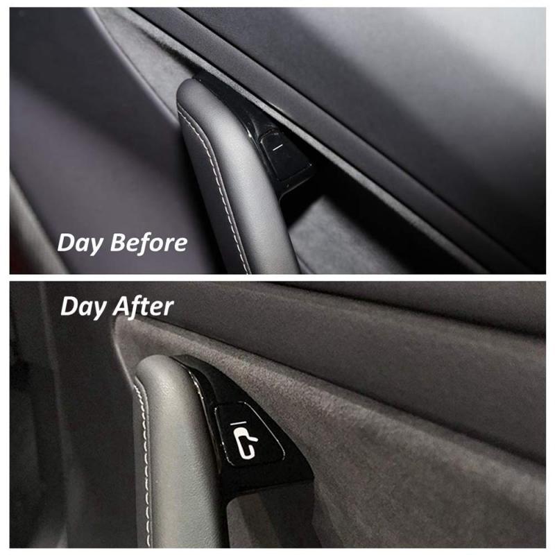 New 8 Pcs/Set For Tesla Model 3 Car Door Open Exit Luminous Sticker Kit Decal Open Button Reminder Fit Car Accessories