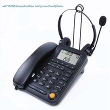 מוקד טלפוני פתול טלפון עם אוזניות רעש ביטול מיקרופון, שיחה מזוהה מקלט רמקול בית משרד קוויים טלפון