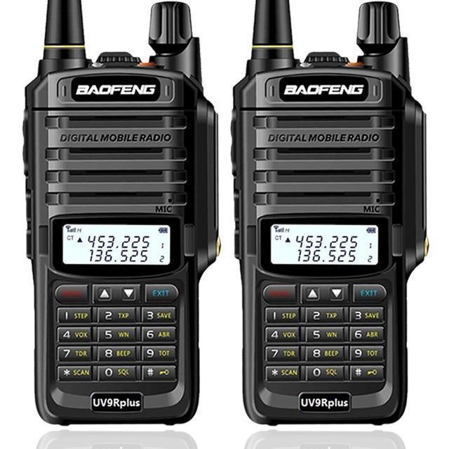 2 قطعة Baofeng UV XR 10 واط عالية الطاقة IP67 مقاوم للماء اتجاهين راديو ثنائي النطاق جهاز لاسلكي محمول للصيد التنزه تمطر