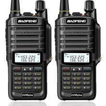 2pcs Baofeng UV XR 10 วัตต์ IP67 กันน้ำวิทยุแบบใช้มือถือแบบ Dual Band Walkie Talkie สำหรับล่าสัตว์เดินป่าฝนตก