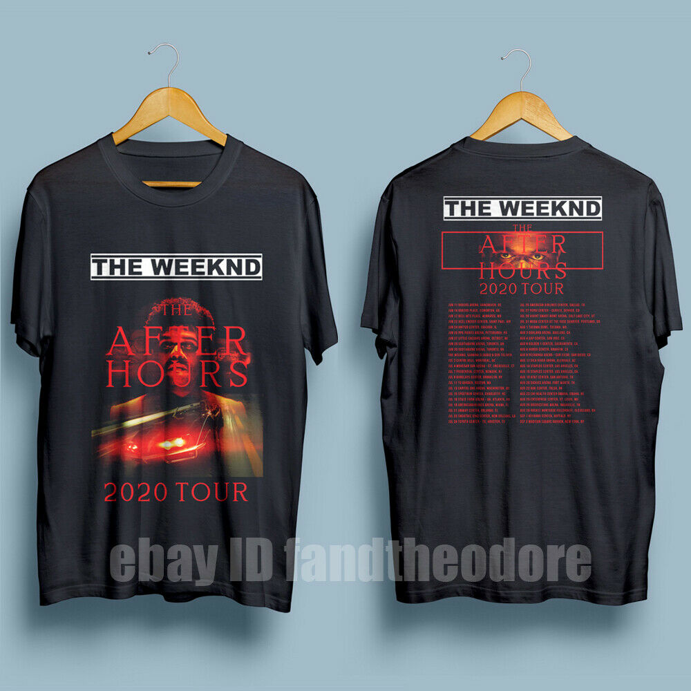 New The Weeknd The After Hours Tour 2020 Men'S Black T-Shirt S-Xxl