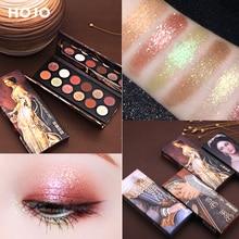HOJO 12 Color Aristocratic Painting Eyeshadow Palette Shimmer Matte Pigmented Eye Shadow Powder Makeup Glitter Crystal Eyeshadow недорого