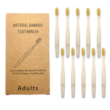 10PCS Colorful Toothbrush Natural Bamboo Tooth brush Set Soft Bristle Charcoal Teeth Eco Bamboo Toothbrushes Dental Oral Care