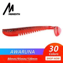 MEREDITH Awaruna Angeln Lockt 8cm 9,5 cm 13cm Künstliche Köder Wobbler Weiche Lockt Shad Karpfen Silikon Angeln Weiche köder Tackle
