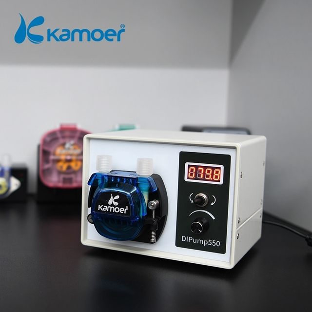 Kamoer High Flow 24V DC DIP Intelligent Power Off Memory Peristaltic Pump With Silicone Tube For Liquid Dispenser Food Industry