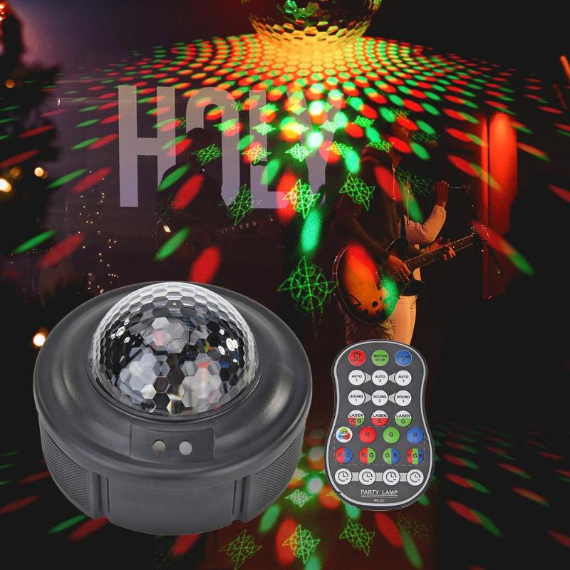 LED Crystal Magic Ball Multiple Patterns Voice Control Music Stage Projector Party Effect Rapid Heat Dissipation Lighting