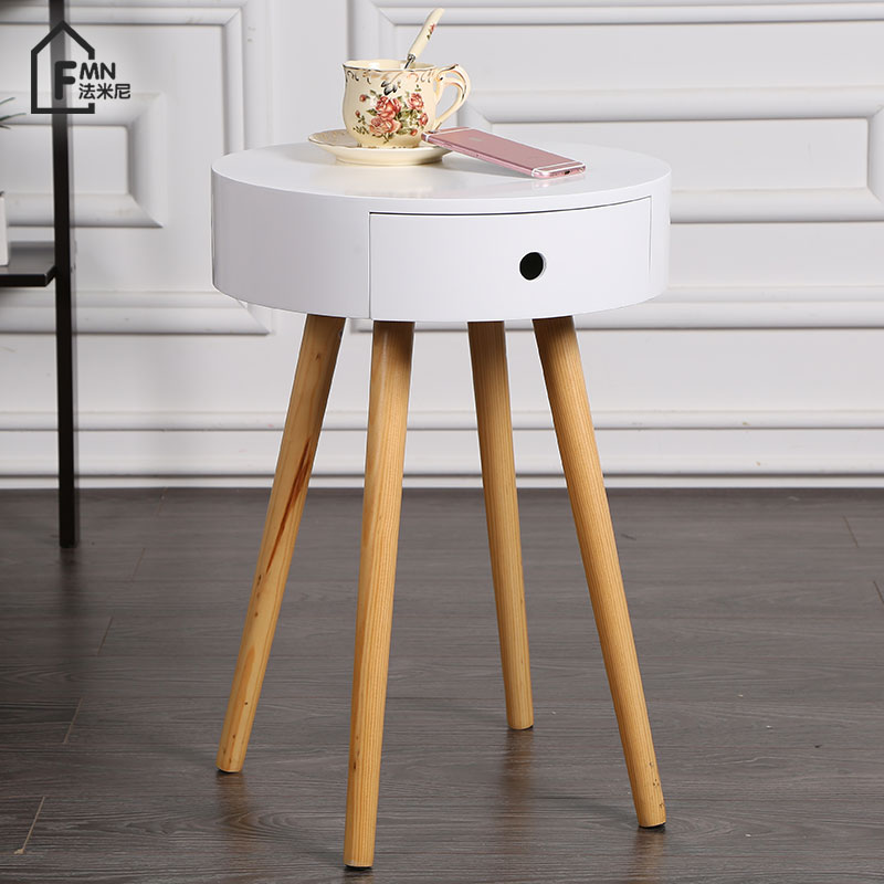 Bedside Small Cabinet Nordic Mini Simple Bedside Table Simple Modern Bedroom Small Table Sofa Side