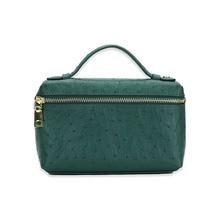 Новая модная дизайнерская сумка из тисненой кожи страуса, переносная сумка, маленький клатч, дамская сумочка, кошелек