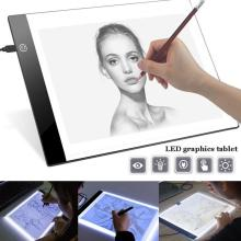 Ultra Thin A4 LED Drawing Tablet Art Stencil Drawing Board Light Box Tracing Table Pad Electronics Writing Tablet signing pen