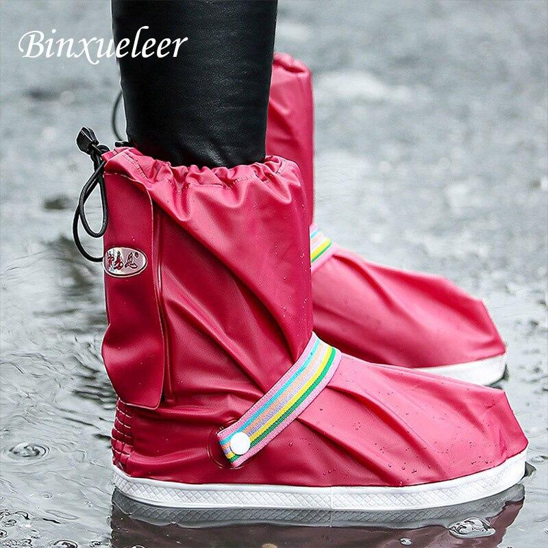 Водонепроницаемые непромокаемые бахилы; Нескользящие непромокаемые сапоги; ботильоны; туфли для многократного применения; непромокаемая ...
