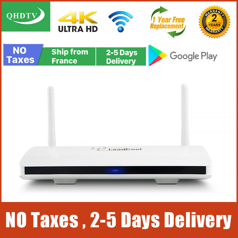 Leadcool qhdtv Android Box French warehouse no tax RK3229 Quad Core 2G 16G Lxtream code Full HD QHDTV Leadcool Set Top Box