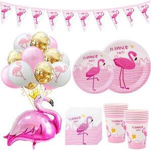 Hawaii Party Luau Flamingo Party Decorations Pineapple Summer Tropical Party Supplies Hawaiian Birthday Party Decor Wedding(China)