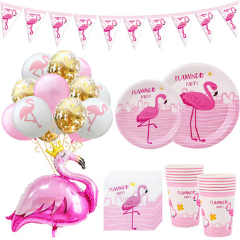 Hawaii Party Luau Flamingo Decorations Pineapple Summer Tropical Supplies Hawaiian Birthday Decor Wedding