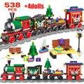 Creator City  Рождественский поезд  железная дорога  строительные блоки  железнодорожный поезд  транспорт  сделай сам  кирпичи  игрушки для детей