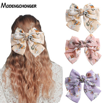 цена на High Quality Hair Bow Ties Hair Clips Printing Bows Clips Girl Hair Accessories For Women ladies Hair Barrettes Bow Tie Hairpins