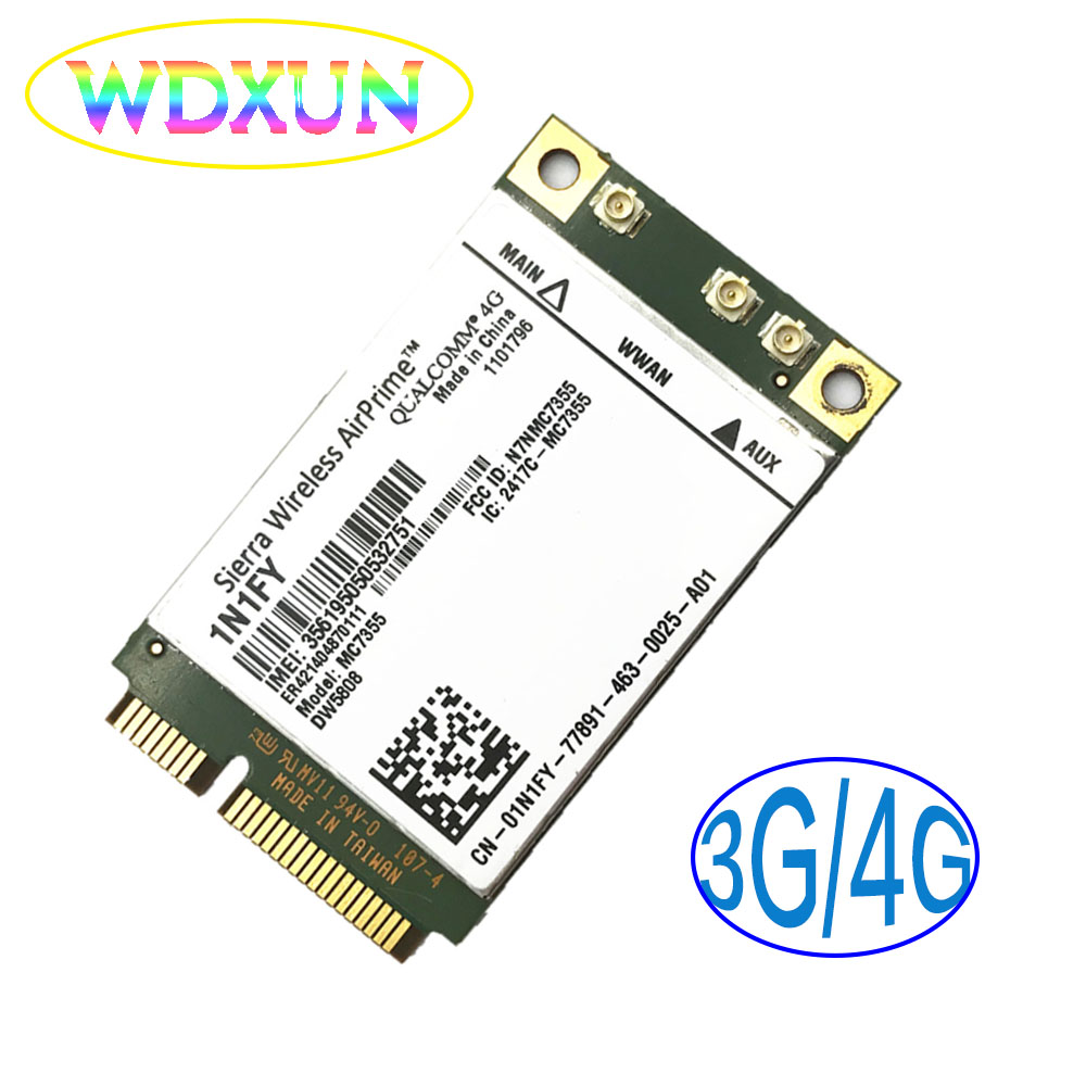 MC7355 DW5808 1N1FY Sierra Wireless Mini PCIE 4G  UMTS,HSDPA,HSPA+,LTE,1xRTT,EVDO Rev A,GSM,GPRS  for DELL