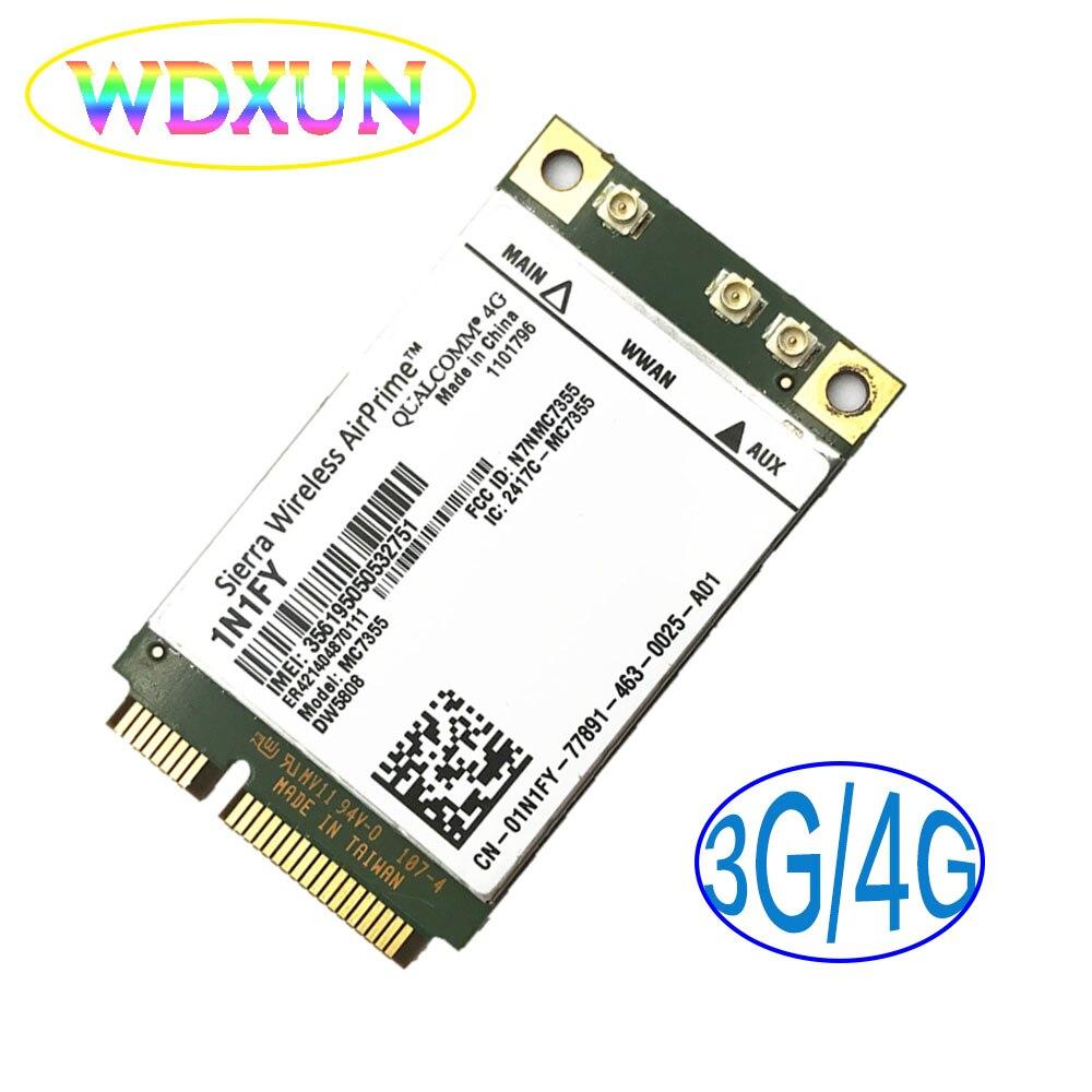Mc7355 Dw5808 1n1fy Sierra Sem Fio Mini Pcie 4g Umts, Hsdpa, Hspa +, Lte, 1 Xrtt, Evdo Rev A, Gsm, Gprs Para Dell