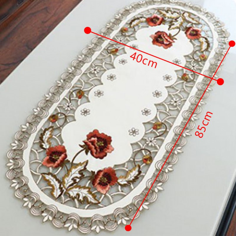 Vintage Embroidered Cloth Rectangular Wedding Table Cloth Event Party Banquet Home Decoration Table Cover