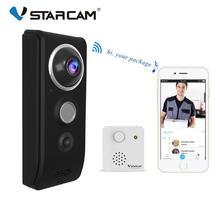 Vstarcam 비디오 초인종 카메라 720 p 와이파이 비주얼 초인종 전화 인터폰 도어 벨 rechargable 배터리 ir 야간 보안 모니터