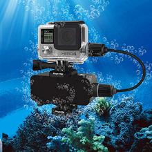 цена на Waterproof mobile power charger+ diving charging waterproof protective case for Gopro hero4 3 3+  camera accessories