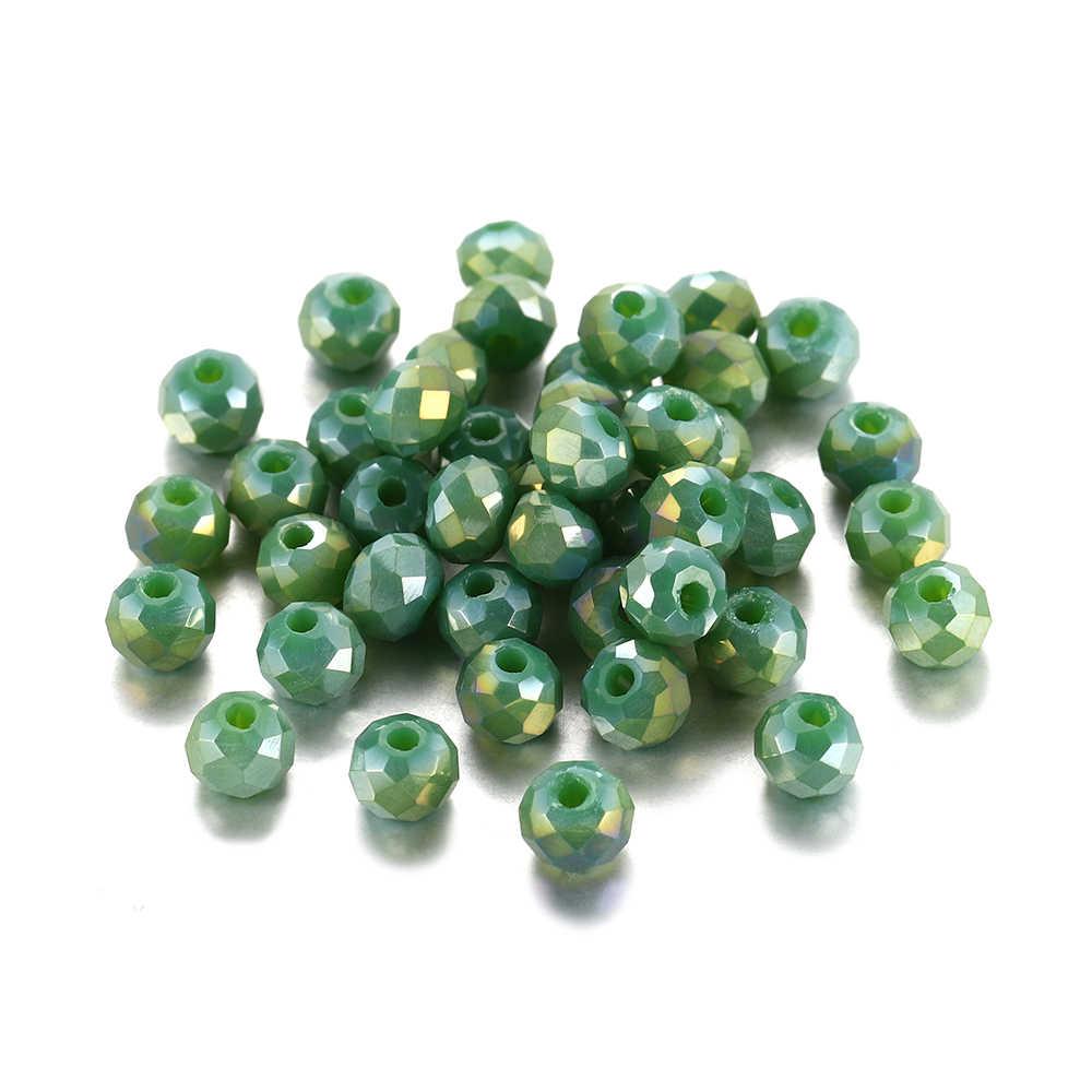 70-300 adet/grup 3 4 6 8mm renkli avusturyalı Bicone kristal boncuk Spacer boncuk Faceted cam boncuk takı yapımı Diy bulma