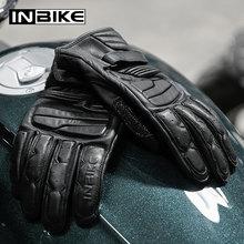 INBIKE hakiki deri motosiklet eldiveni tüm sezon motosiklet eldivenleri dokunmatik ekran Moto eldiven darbeye dayanıklı Guantes