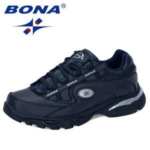 Image 5 - BONA Nuovo Popolare di Cuoio Azione Runningg Scarpe MenTrainers Sport Scarpe Uomo Zapatillas Hombre scarpe Da Tennis Allaperto Calzature Maschili