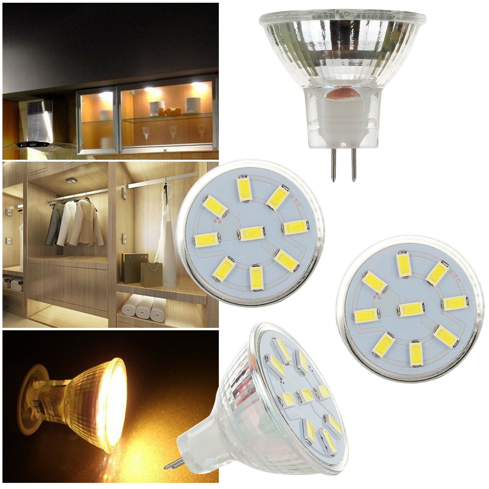 MR11 LED Bulb Spotlight 2W 3W 4W 12-24V 5733 2835 SMD 10W 20W Equivalent Lamp Lampada 35mm Led Spot Light Home Lighting Lamps
