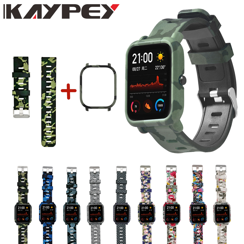 2in1 Case+Strap For Xiaomi Huami Amazfit GTS Smart Watch Band 20mm Bracelet+PC Protective Shell For Amazfit GTS Sport Wristband