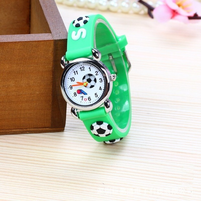 Fashion Hot Style Children's Football Whistle 3D Jelly Watch Primary School Students Silicone Cartoon Wrist Watch