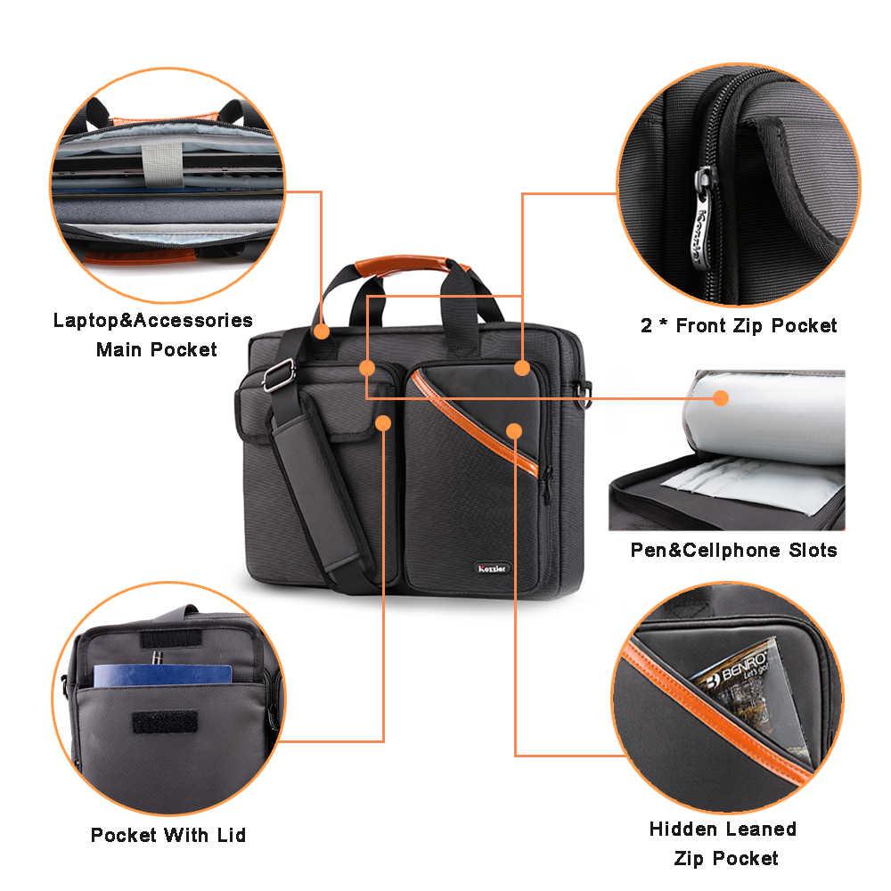 ICozzier 13-15,6 pulgadas Multi-Bolsillo manga del ordenador portátil maletín bolso de hombro accesorios electrónicos organizador bolsa de transporte impermeable