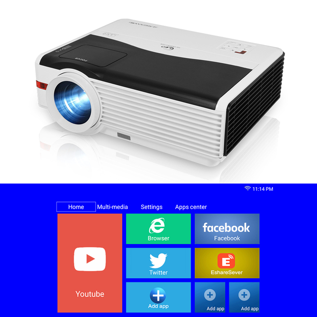 A9AB Beam Projector Home Theater Video Led 6000 Lumens Wireless Airplay Android Freeshipping Support Full Hd 1080P Projector 1