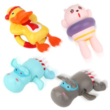 1 PCS Cartoon Animal Hippopotamus Duck Bath Toys Classic Baby Water Toy Infant Swim Turtle Clockwork Beach For Children