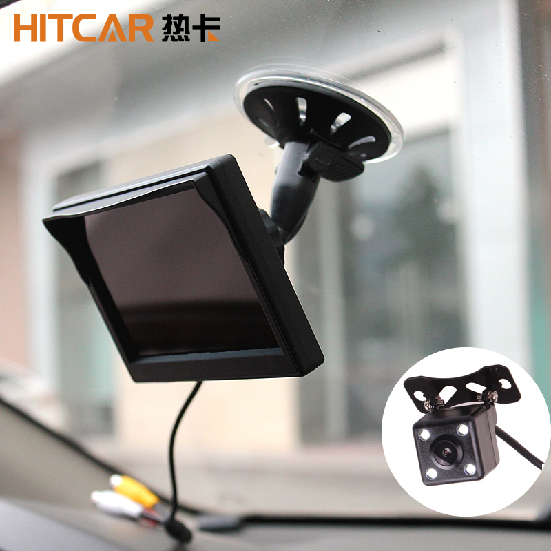 Car Truck Bus 5 Inch 12V 24V HD LED Stand Monitor Screen With Rear View Reverse Backup Camera Parking Kit Combo Home CCTV