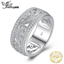Bijoux palace CZ anneaux de mariage 925 en argent Sterling anneaux pour les femmes empilable anniversaire anneau éternité bande argent 925 bijoux
