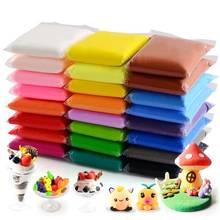 12 cores super leve argila com 3 ferramentas de secagem ar plasticina modelagem argila criativa artesanal educacional 3d brinquedos argila