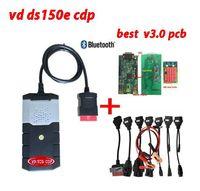v3 0 2019 obd2 best V3.0 PCB VD DS150E CDP 2016.R0 keygen as wow diagnostic tool with bluetooth 8 pcs car cables for delphi autocom (1)