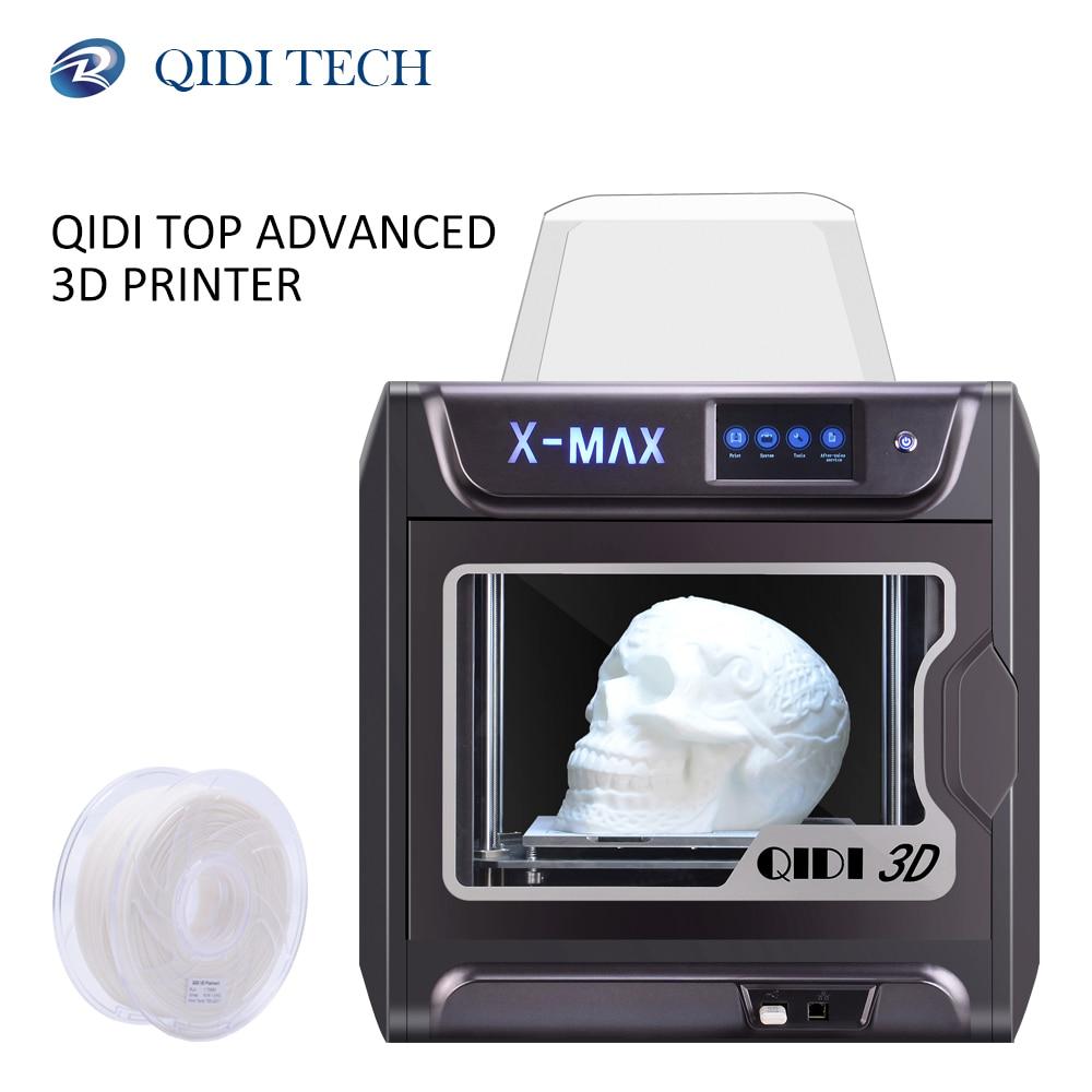 QIDI TECH 3D принтер X-MAX большой размер промышленный WiFi высокоточная печать с PLA TPU PC PETG нейлон 300*250*300 мм