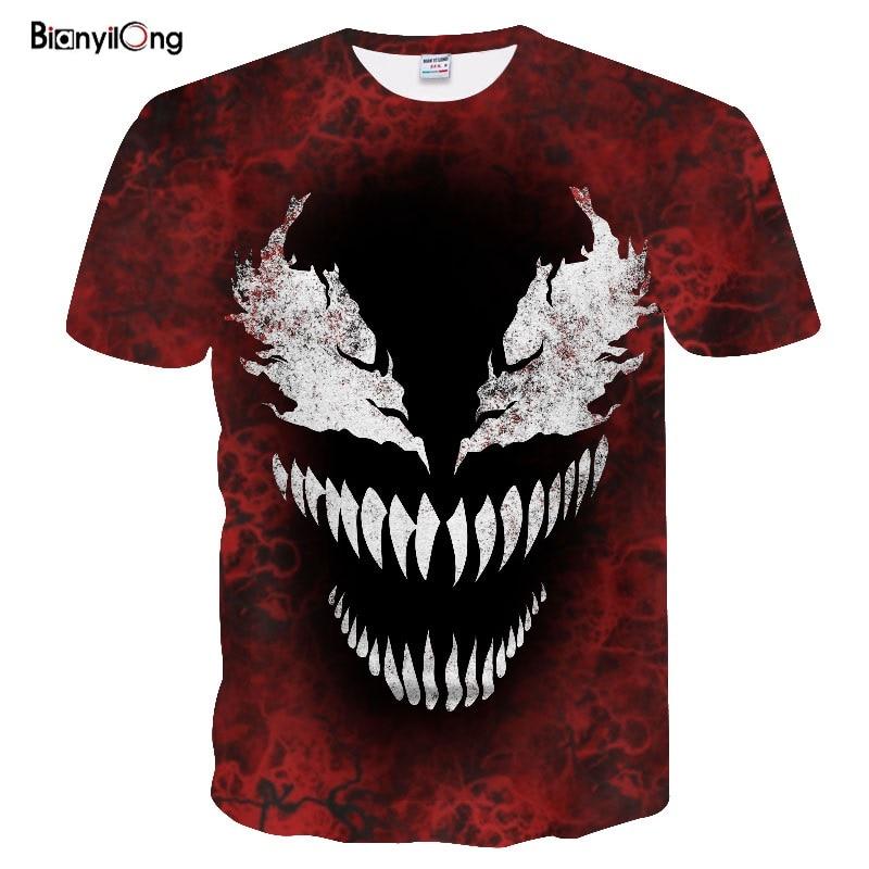 2019 New T Shirt Men Venom 3D Printed T Shirts Men Summer Cosplay Costume Short Sleeve Tshirt Male Clothing Hip Hop Tops&Tees