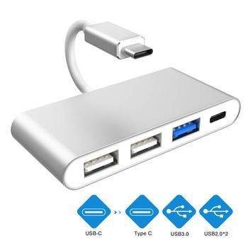 Type C Hub with USB3.0 Double USB2.0 USB C Female Power Port Multi-Port USB C to USB OTG Data Adapter for Macbook Samsung Huawei