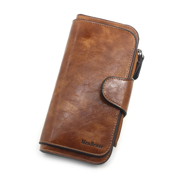 Women's wallet made of leather Wallets Three fold VINTAGE Womens purses mobile phone Purse Female Coin Purse Carteira Feminina 3