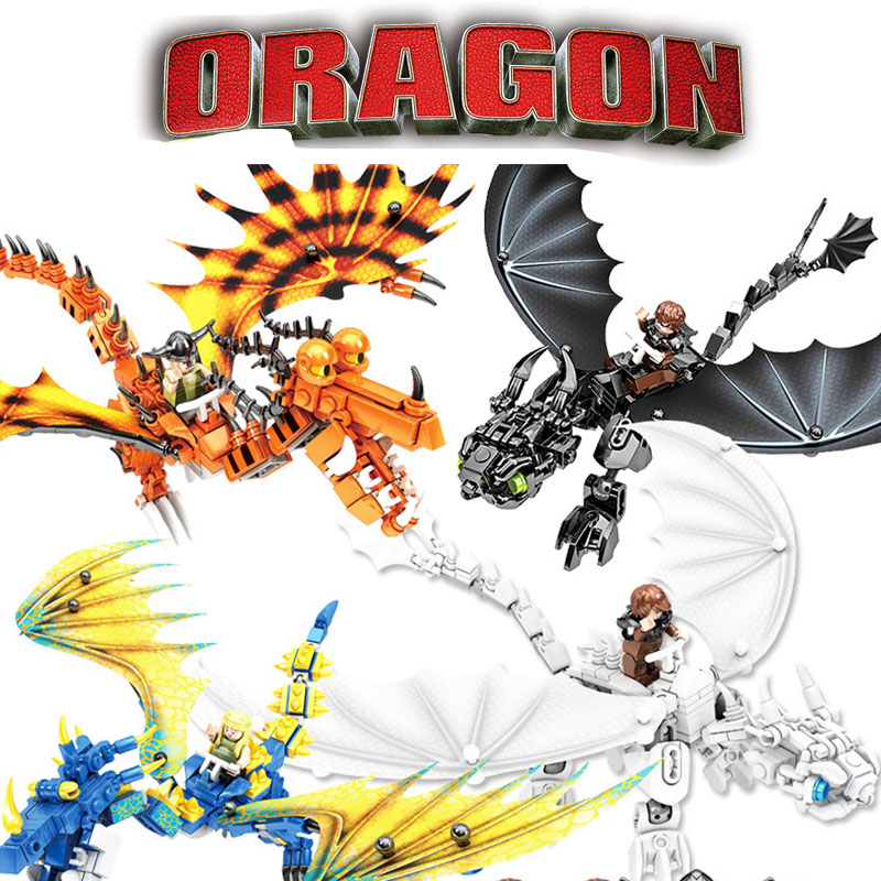 How To Train Your Dragon 3 Legoinglys Toothless Night Fury Light Fury Dragon Building Blocks Brick Toys for Children Christmas