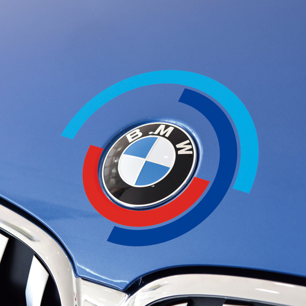Car Logo Sticker Auto Hood <font><b>Engine</b></font> <font><b>Cover</b></font> for <font><b>BMW</b></font> E60 <font><b>E90</b></font> F20 F30 F10 G30 Z4 F15 F16 G05 G01 G20 X1 Bonnet Emblem Decal Accessory image