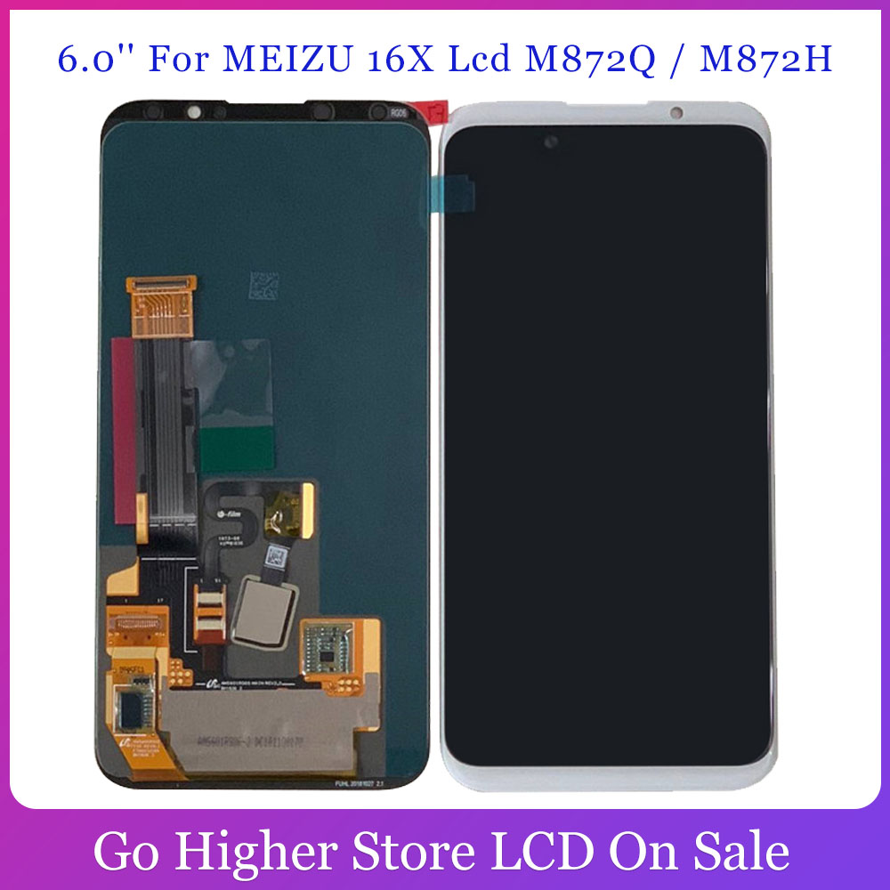 6.0'' For <font><b>Meizu</b></font> <font><b>16X</b></font> Lcd 16 X AMOLED LCD Touch Digitizer M872Q / M872H <font><b>Display</b></font> Touch Panel Assembly Free Tools image
