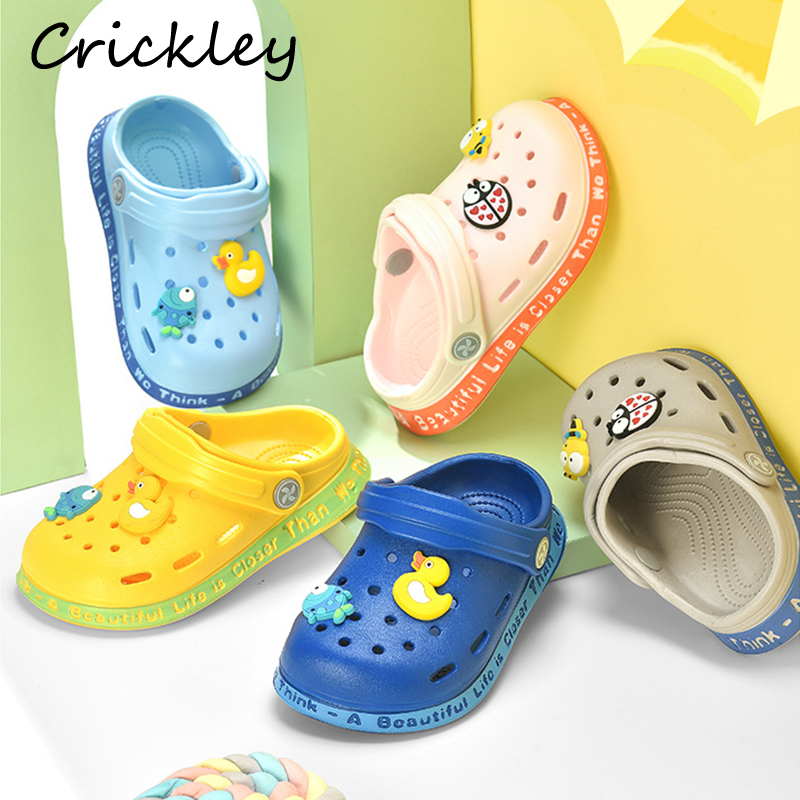 Summer Toddler Clogs Slippers Cartoon Pattern Indoor Beach Shoes for Baby Boys Grils Breathable Soft Non Slip Cheap Kids Slipper