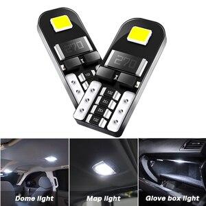 T10 2835 SMD LED light bulb car CANBUS no error 12V Dome Bulb For Hyundai I30 I40 Solaris CRETA TUCSON Map Glove Box Lamp white