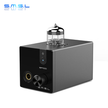 цены SMSL SP100 Tube Headphone Amplifier 6N3 HiFi AUDIO Stereo Tube Amplifier Output Transformer 2.0 Channel Tube Buffer 5.5W