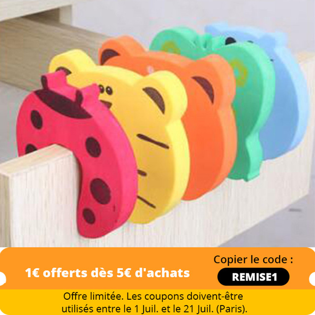5Pcs/Lot Protection Baby Safety Cute Animal Security Door Stopper Baby Card Lock Newborn Care Child Finger Protector 1